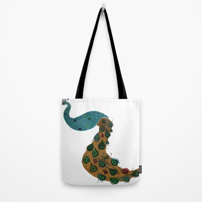 Florence the Peacock Tote Bag