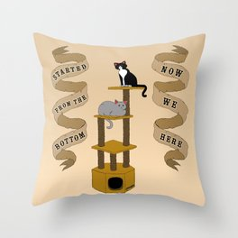 Meow We Here Throw Pillow