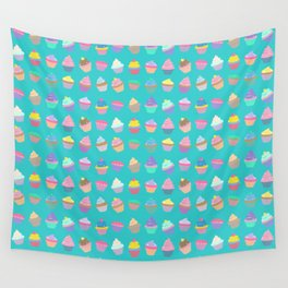 Cupcake sweet dream colourful factory pattern Wall Tapestry