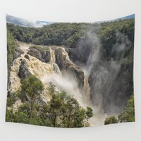geology Wall Tapestries featuring Beautiful Barron Falls by Wendy Townrow