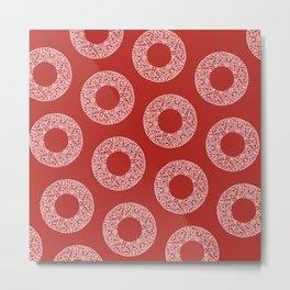 Big Red Dot Polka Dots Metal Print