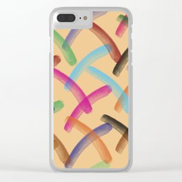 Colourful patterns Clear iPhone Case