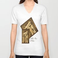 milan V-neck T-shirts featuring Arco della Pace Milan by Louisa Catharine Photography
