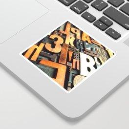 3B - Typography Photography™ Sticker