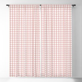 Gingham in Blush Blackout Curtain
