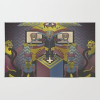 religion Area & Throw Rugs featuring It's religion, baby by Andrea Moresco