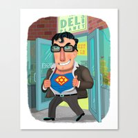 jewish Canvas Prints featuring Jewish Superman by Joe Rocco
