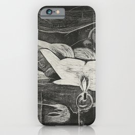 Te po (The Night) from the Noa Noa Suite (1921) by Paul Gauguin iPhone Case
