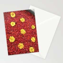 High-contrast Yellow Daisies Stationery Cards
