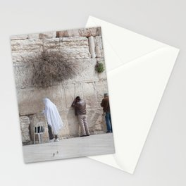 Praying at the Wailing Wall or Western Wall Stationery Cards