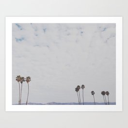 Cali Skyline Art Print