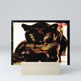 Big Cat Models: Black Panthers: Sasha 01-02 Mini Art Print