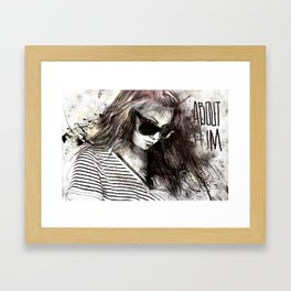 about him Framed Art Print