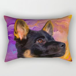 German Shepherd Puppy Rectangular Pillow