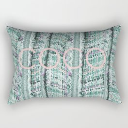 COCO TWEED IN TEAL Rectangular Pillow