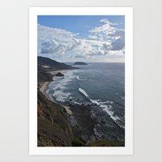 Coastal Cliff Art Print