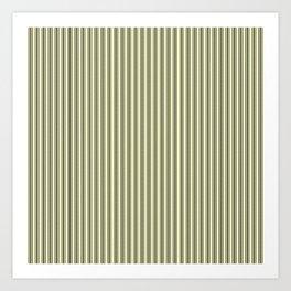 Trendy French Cream Mattress Ticking Black Double Stripes Art Print