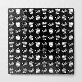 trash can pattern Metal Print