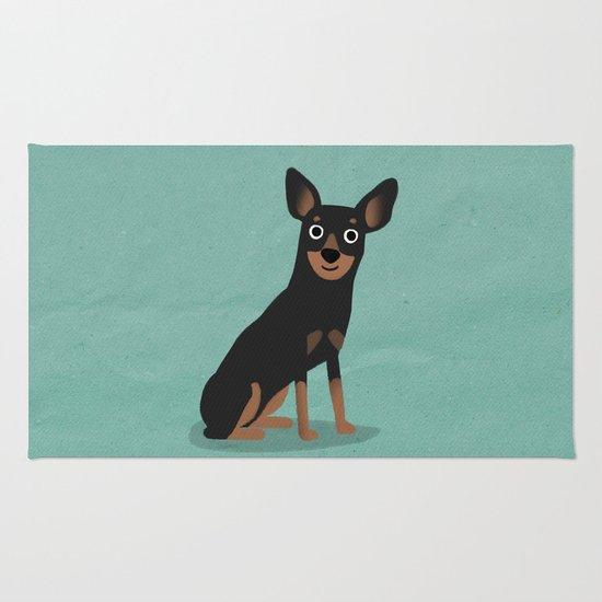 Min Pin - Cute Dog Series Rug