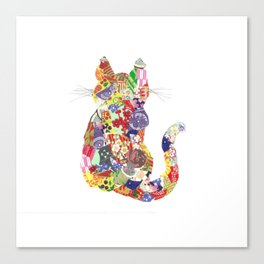 Patchwork kitty Canvas Print