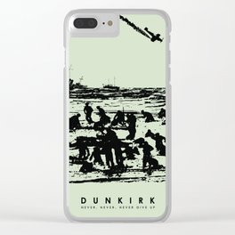 He's on me... I'm on him. Dunkirk Film Poster Clear iPhone Case