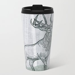 Elk Scene Metal Travel Mug