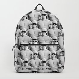 Cool Dudes / 3D render of male figures wearing sunglasses Backpack