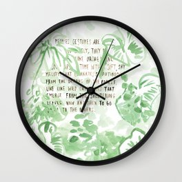 """""""Conquest of the Useless"""" by Werner Herzog Print (v. 2) Wall Clock"""