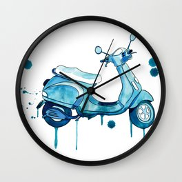 Scooter Away Wall Clock