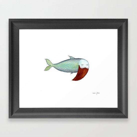 fish with beard Framed Art Print