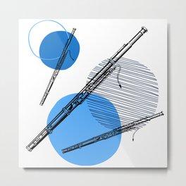Bassoon and Dots Metal Print