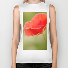 Miss you so much Red Poppy #decor #society6 Biker Tank