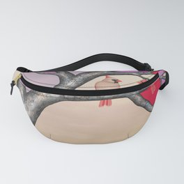 northern cardinals in the stained glass tree Fanny Pack
