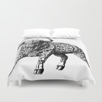 bull Duvet Covers featuring Raging Bull by BIOWORKZ