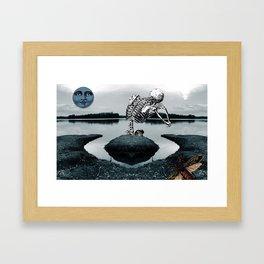Blue Moon of Sorrow Framed Art Print