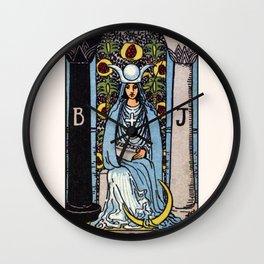 II. The High Priestess Tarot Card Wall Clock