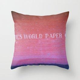 Times World Paper Throw Pillow