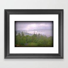 Astoria Fog Framed Art Print