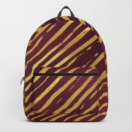 Fuchsia Golden Tiger Stripes Backpack