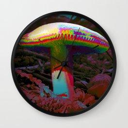 A Trippy Mushroom Wall Clock