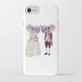 Madame and Monsieur Elephant iPhone Case