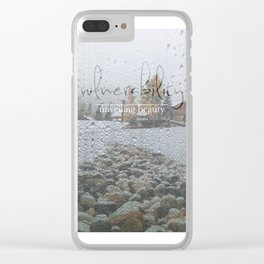Unveiling Beauty - Vulnerability Clear iPhone Case