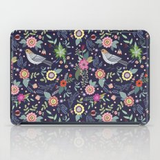 Сut vintage pattern with a bird and flowers iPad Case