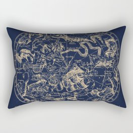 Gold Ceiling | Zodiac Skies Rectangular Pillow