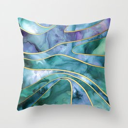 The Magnetic Tide Throw Pillow