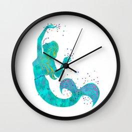 Love Mermaid Wall Clock