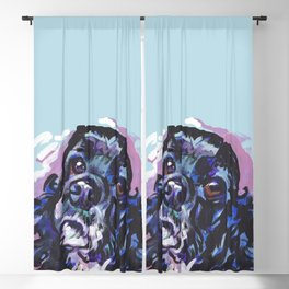fun American Cocker Spaniel bright colorful Pop Art painting by Lea Blackout Curtain