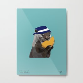 Bucket Hat Otter Metal Print