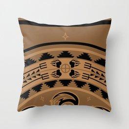 Bear Spirit (Brown) Throw Pillow