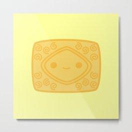 Cute yummy biscuit-custard cream Metal Print